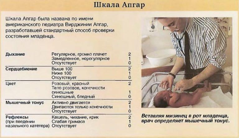 расшифровка шкалы апгар