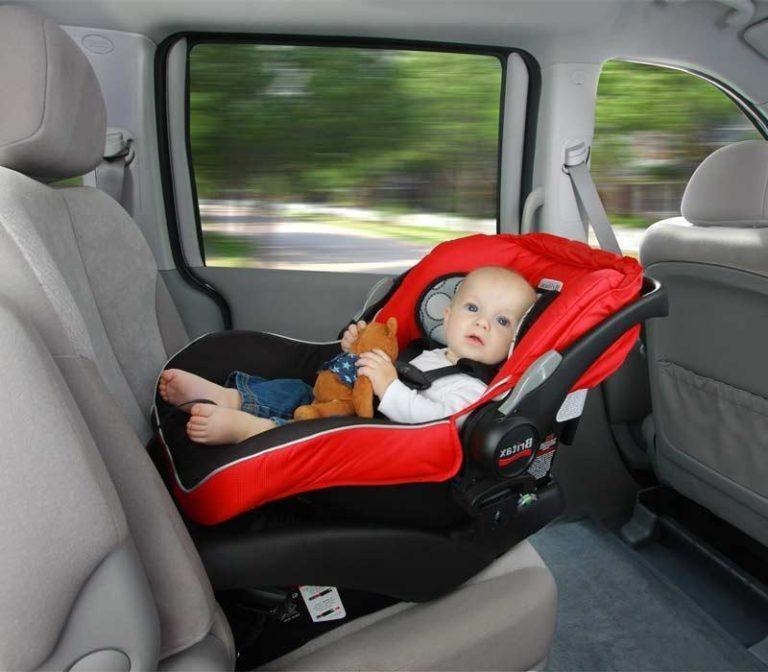 как правильно перевозить новорожденного в машине