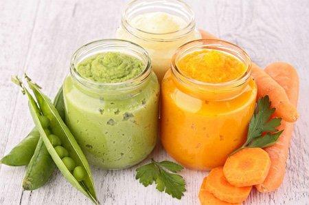 морковь с зеленым горошком и кабачком для грудничка