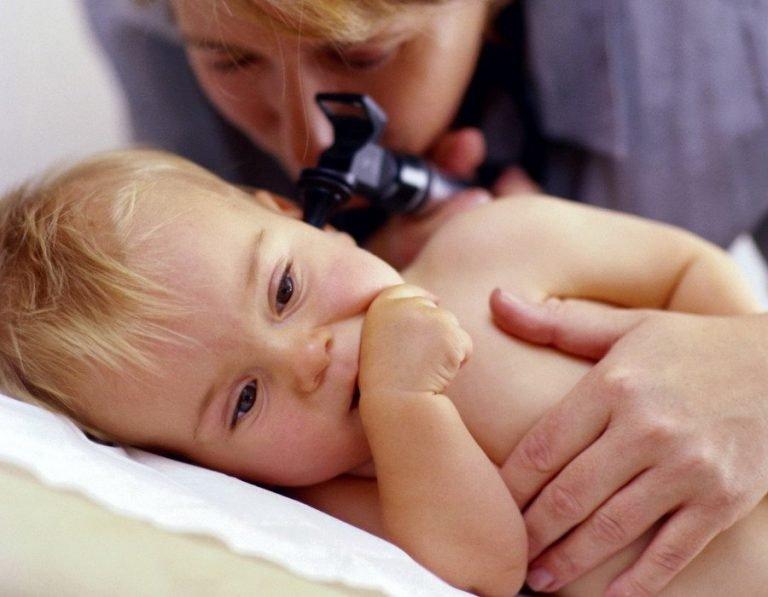 как лечить отит у грудничка
