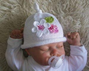 как связать шапочку для новорожденного