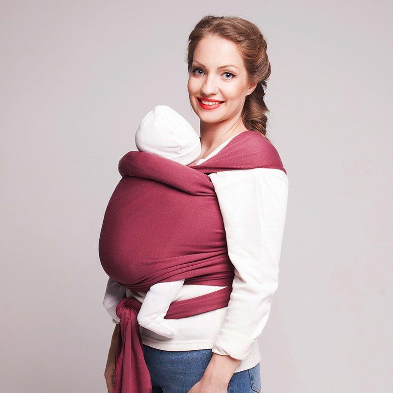 слинг-шарф для малыша с рождения