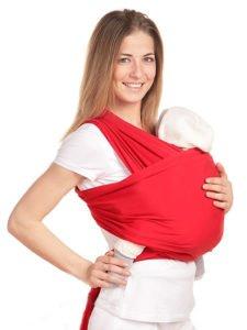 слинг-шарф для новорожденных намотка