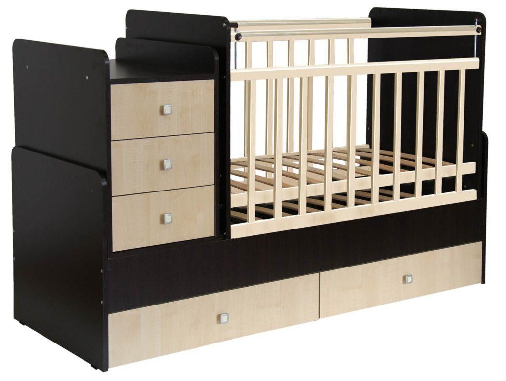 кровать Фея для младенцев с пеленальным столом