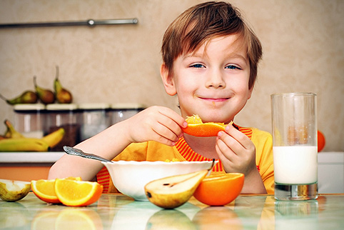 Весенний рацион питания ребенка
